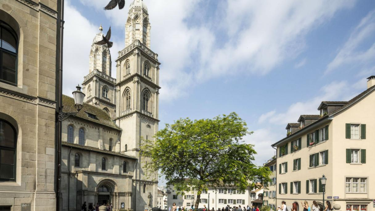 Grossmünster Church in Zurich