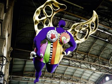 The Guardian Angel of Niki de Saint Phalle in the Main Railway Station of Zurich