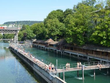 Lower Letten River Pool – Swimming Fun near Zurich-West