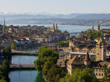 Zurich Aerial Vue, From National Museum to the Alps