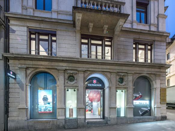 View from outside of the Flagship Store Zurich