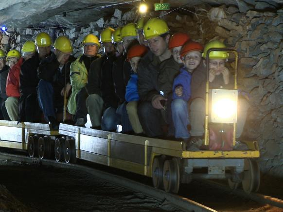 A ride with the tunnel train in the Käpfnach Mine – a Former Lignite and Marl Mine in Horgen