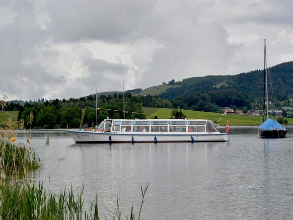 Boat trip on the Sihlsee