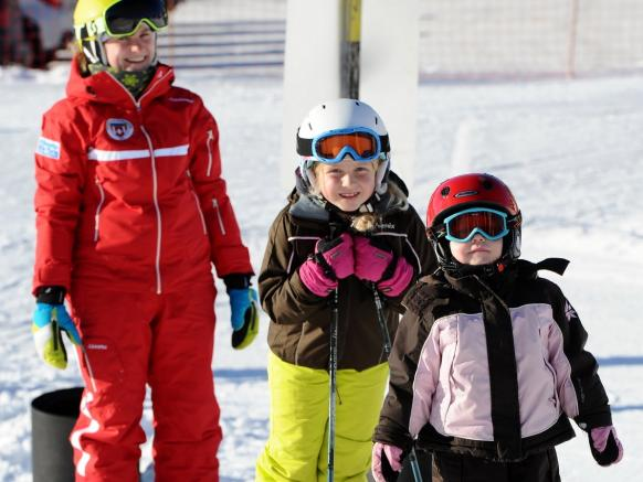 "Various attractions such as the ""Kinderland"" at the Roggen skilift or the ""magic carpet"" at the Seebli children area"