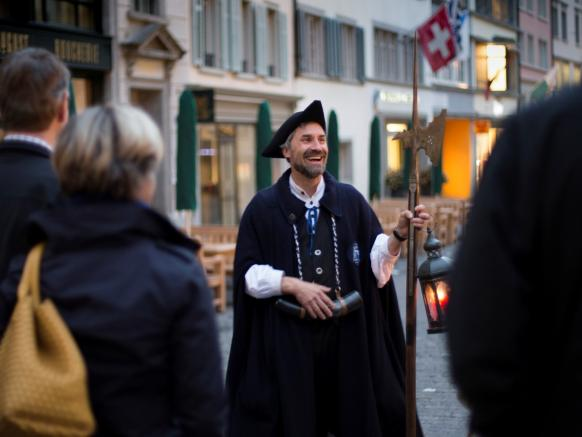 Zurich, Giuded walking tour with the night watchman