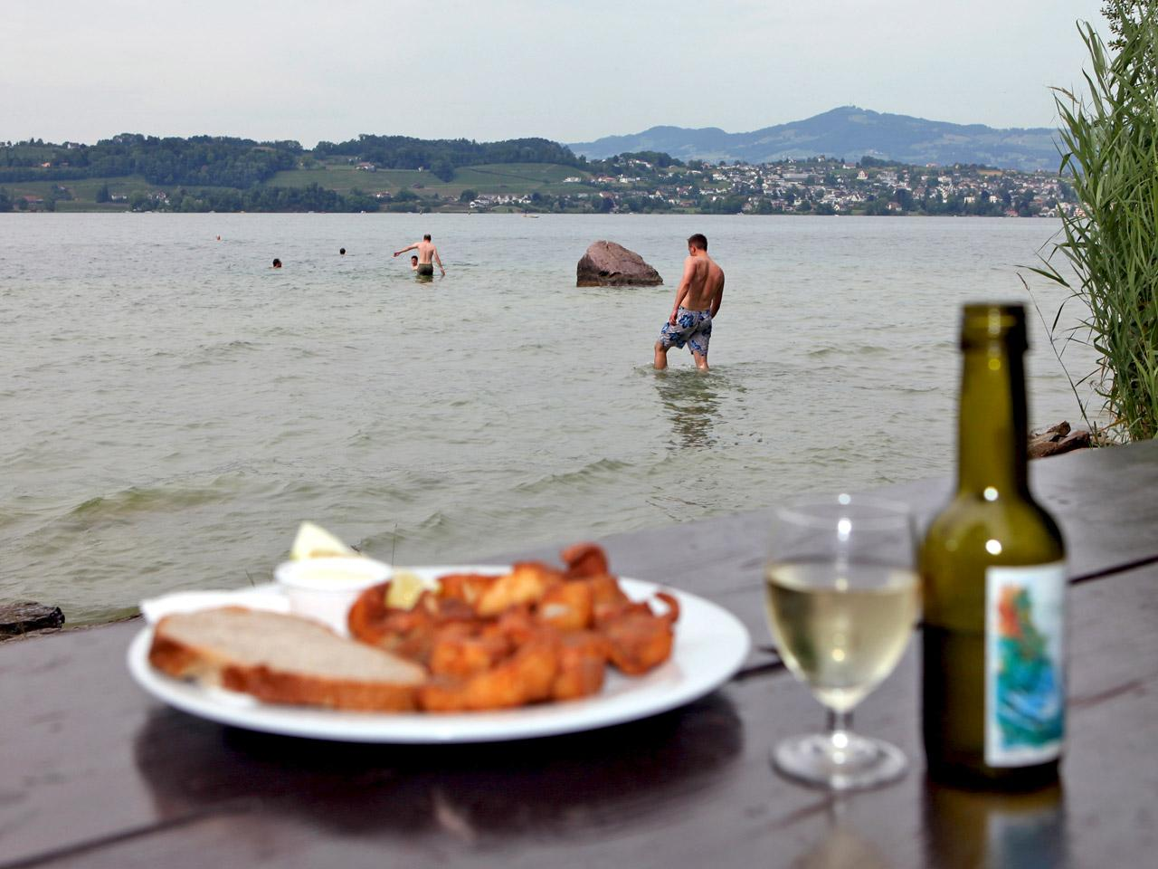 "Lützelau Island, ""Fischknusperli"" (deep fried fish)"